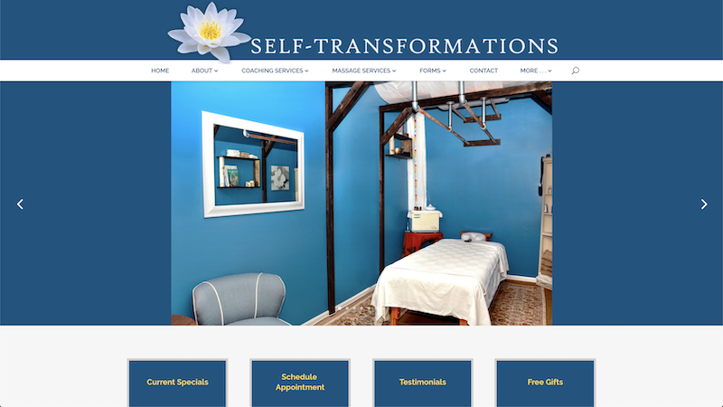 preview screenshot of self-transformations.com landing page